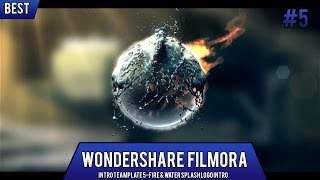 Wondershare Filmora Intro Template 5 - Fire & Water Splash Logo Intro + Free Download