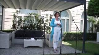 Lyrica soprano Zoe Maitland-Round singing at the Four Seasons Hotel, Milan (sound check)