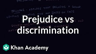 Prejudice vs discrimination | Individuals and Society | MCAT | Khan Academy