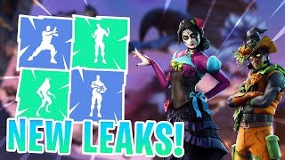 *NEW* Fortnitemares Leaked Emotes/Skins..! (Criss Cross, Jugglin, Zombie, Dante..)