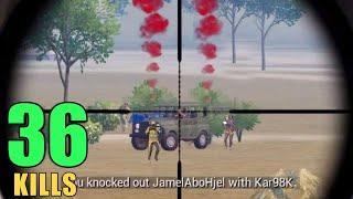 BEST KAR98 KILL IN PUBG MOBILE ?? | 36 KILLS SOLO VS SQUAD