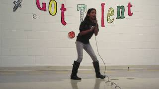 Aaliyah sings Sky's The Limit Sasha Banks Theme Song at school talent show