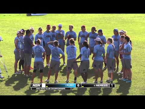 Video Thumbnail: 2012 National Championships, Women's Pool Play: San Francisco Fury vs. Chicago Nemesis