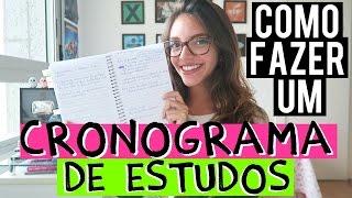COMO FAZER UM CRONOGRAMA/PLANO DE ESTUDOS? - Débora Aladim