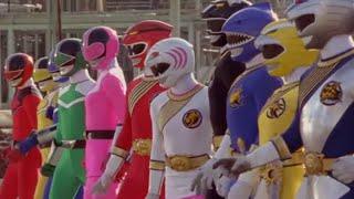 Power Ranger Fuerza Salvaje y Fuerza del Tiempo team-up | Transformación y batalla