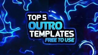 TOP 5 2D OUTRO TEMPLATE [ENDSCREEN NO TEXT]