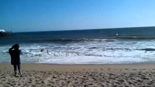 Newport Beach Big Waves Windy Day