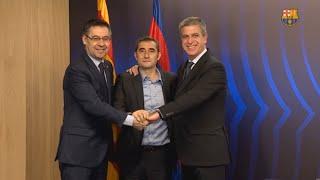 Valverde renueva su compromiso con el Barça