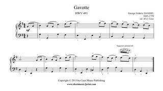 Handel : Gavotte in G Major, HWV 491
