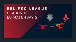 CS:GO - Mouz vs. FaZe - Map 1 [Cache] - Day 2 ESL Pro League S6 - EU Main Stream