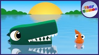 10 Little Crocodiles | Crocodile Song | Tiny Tunes