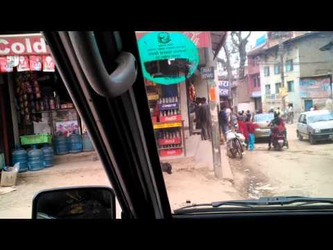 Kathmandu Nepal driving through city streets