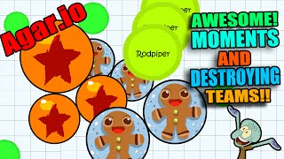 BEST MOMENTS in Agar.io COMPILATION!!!