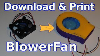 3D printing How to make radial blower from PC fan
