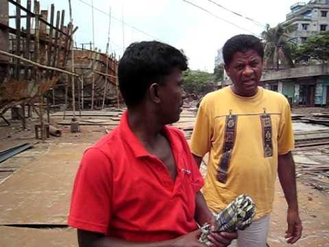 ダッカ市内の造船所(Dhaka)
