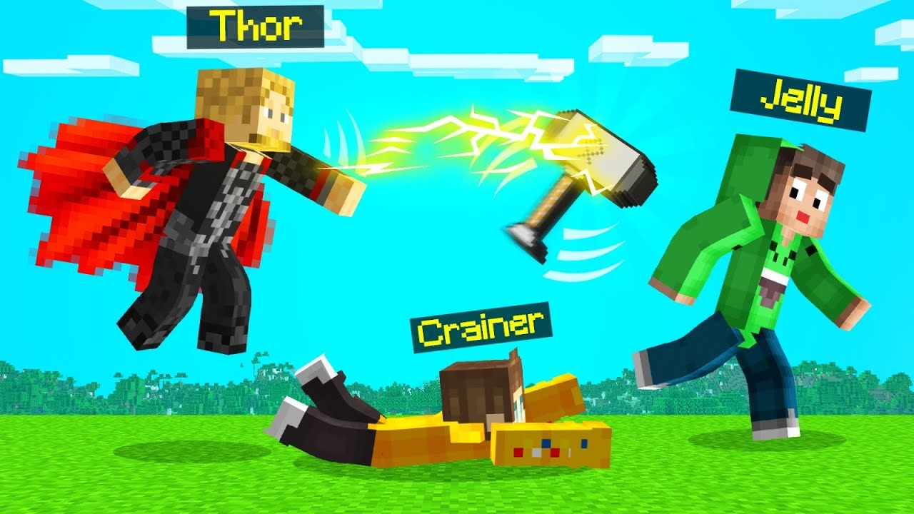 Jelly - Playing As THOR In SPEEDRUNNERS vs. HUNTERS! (Minecraft)