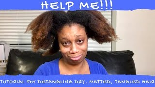 Best Way to Detangle Dry, Matted, Tangled Natural Hair | how to detangle your curly natural hair