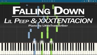 Lil Peep & XXXTENTACION - Falling Down (Piano Cover) Synthesia Tutorial by LittleTranscriber