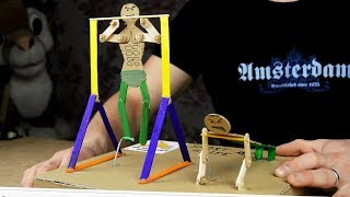 How to make funny MECHANICAL ATHLETES. The best toy for children !!!