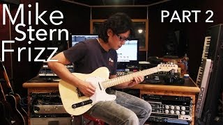 Kit Tang - Frizz by Mike Stern - INTRO Guitar Lesson - Part2 (Second Guitar)