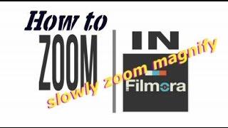How to achieve an animated zoom | Filmora vfx