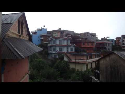 Panoramic view over Tansen city in Nepal