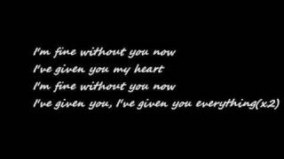 Armin Van Buuren Ft Jennifer Rene - Fine Without You (Radio Edit) Lyrics