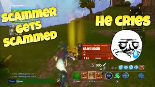 fortnite save the world: Scammer gets scammed he cries