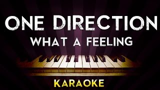 One Direction - What a feeling | Higher Key Piano Karaoke Instrumental Lyrics Cover Sing Along