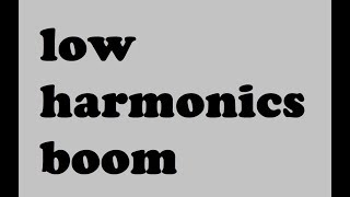 low harmonics boom sound effect free download