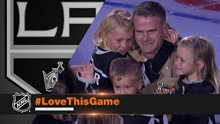 Marine surprises his family at Kings' opener