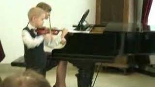 Antoni Ingielewicz (6yo) violin Gigue by Veracini