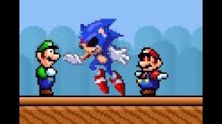 Super Mario Bros. X 1.4.4 (SMBX) - Star Mario Vs Sonic.exe - Luigi Survived(Title)