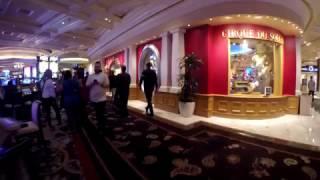 Las Vegas Strip Walk Bellagio Night