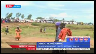 Governor Obado holds victory rally after he won ODM Gubernatorial ticket