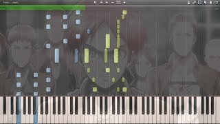"""Shingeki no Kyojin - Opening """"Guren no Yumiya"""" - Synthesia Piano HD"""