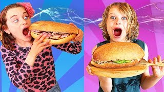 *Super size* SANDWICH Twin Telepathy ft The Norris Nuts (THE ORIGINAL Sandwich Challenge)