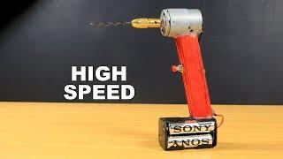 How To Make Very Powerful Mini Drill Machine - DC Motor Life Hack