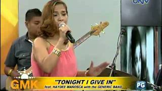 """Tonight I Give In"" (feat. Haydee Mañosca with Generic Band)"