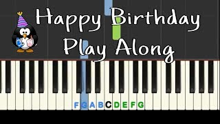 Happy Birthday: Play Along easy piano tutorial with free sheet music