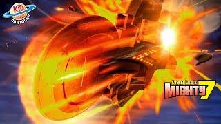 Sky Fire Slam 7 | Stan Lee's Mighty 7 I Season 1 Episode 2 Kid Genius Cartoons