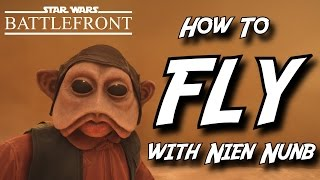 How to FLY with Nien Nunb | Star Wars Battlefront