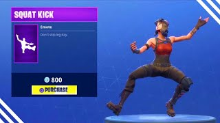 SQUAT KICK RETURNS! Fortnite ITEM SHOP May 7 2018! NEW Featured items and Daily items!