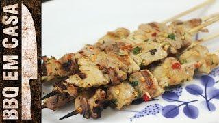 RECEITA DE ESPETINHO DE FRANGO (chicken kebab)