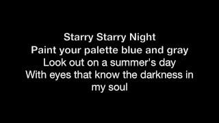 Vincent (Starry Starry Night) - HD With Lyrics! By: Chris Landmark