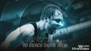 "WWE No Mercy 2016 Official Theme Song-""No Mercy"""