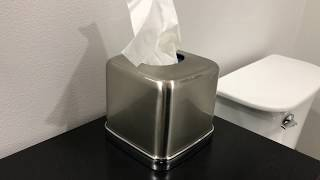 InterDesign York Bath Split Finish Brushed Nickel Facial Tissue Box Cover review