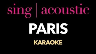 The Chainsmokers - Paris (Karaoke/Instrumental)