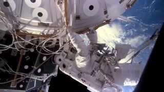 Beautiful space station EVA (HD)