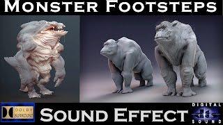 Monster Footsteps Sound Effect | HI - RES AUDIO